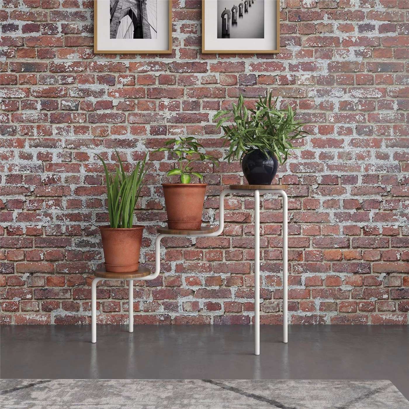 The three-tiered plant stand