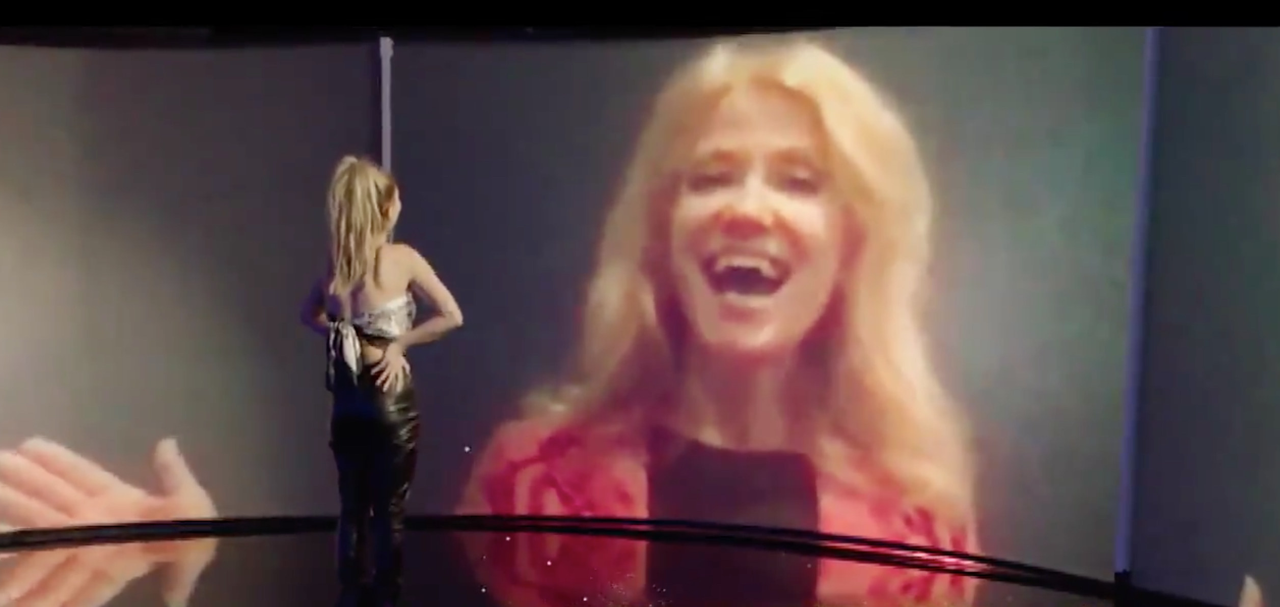 Kellyanne Conway on video call to Claudia Conway on American Idol