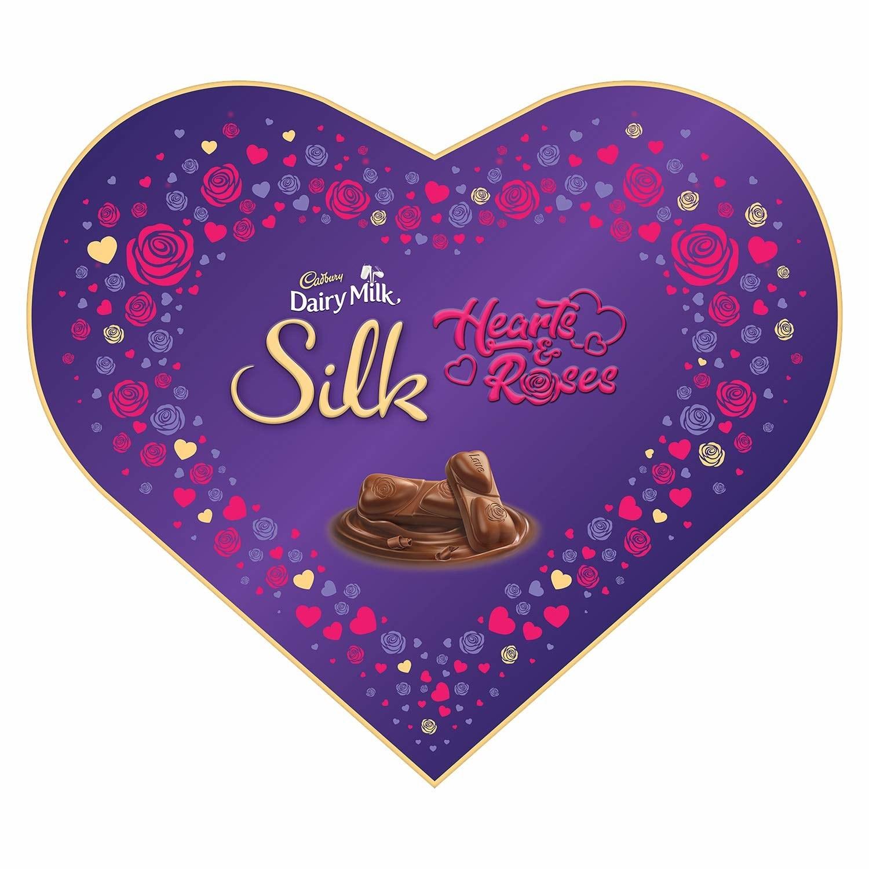 A heart-shaped box of chocolates