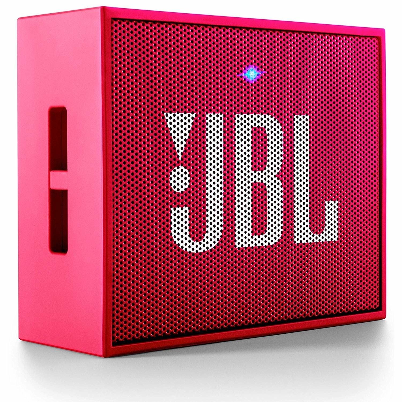 A pink JBL speaker