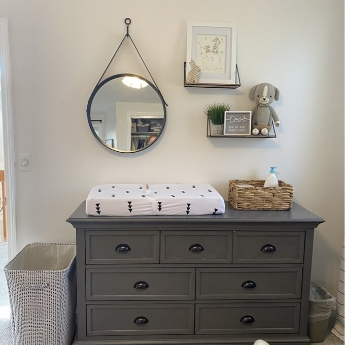 Review photo of the gray dresser