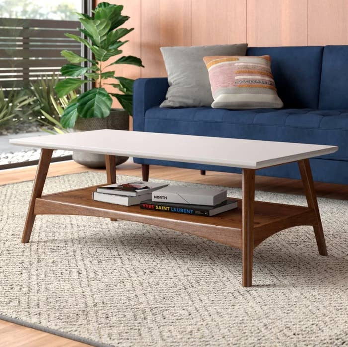 The coffee table with storage