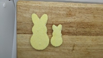 Community submission showing bunny-shaped candies