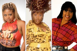 Countess Vaughnn is posing on the left with Natalie Desselle in the center and Jackee Harry on the right smiling