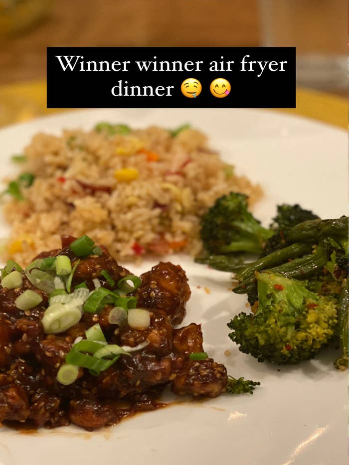 The author's air fryer dinner