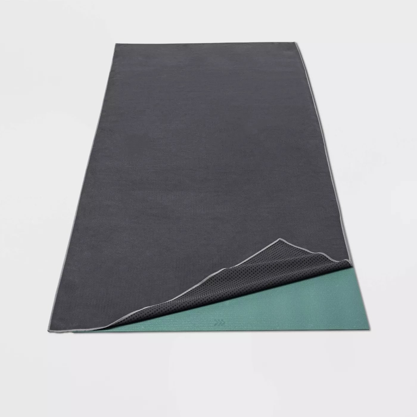 The gray yoga mat towe