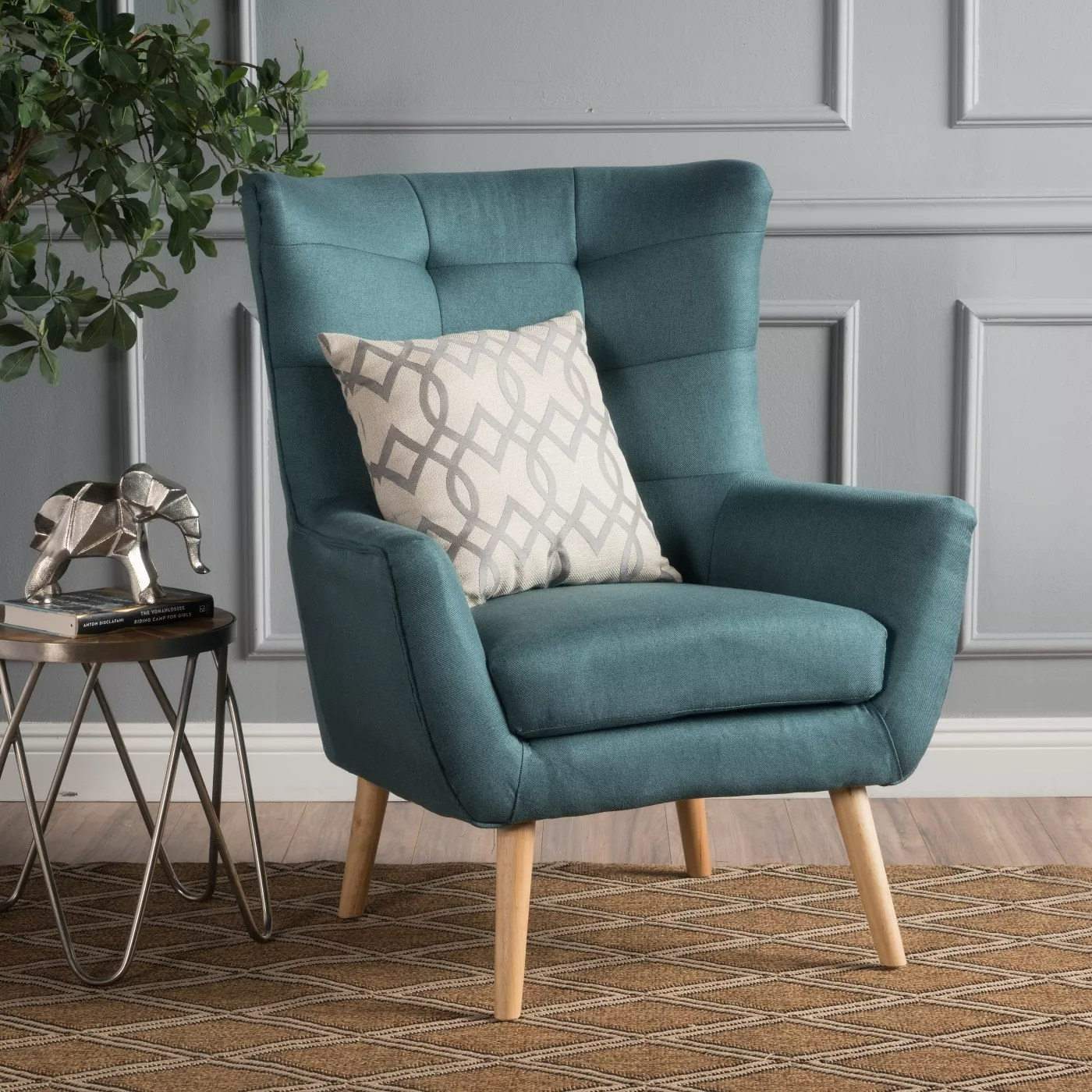The chair in dark teal