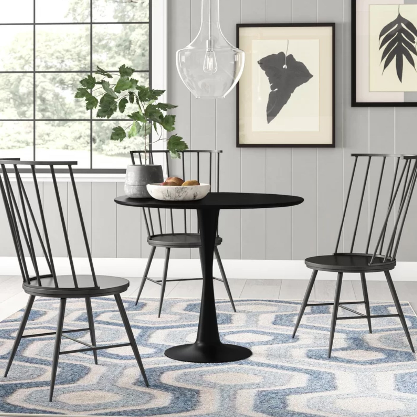 The dining table in black