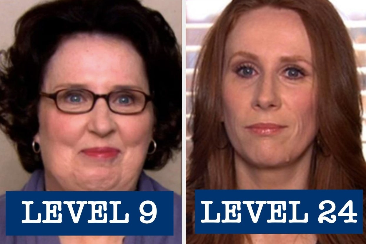 """Phyllis Lapin with the words """"Level 9"""" and Nellie Bertram with the words """"level 24"""""""