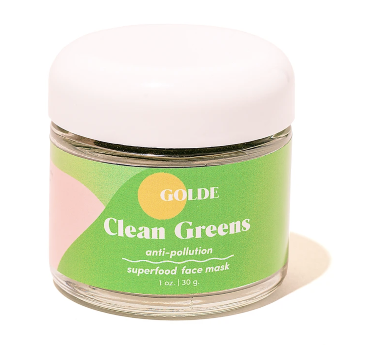 Bottle of clean greens superfood face mask