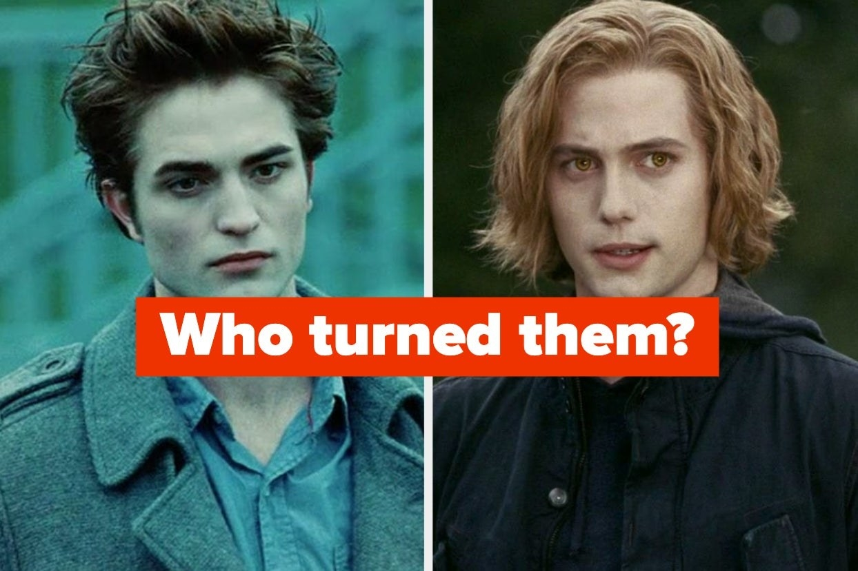 """Edward and Jasper from """"Twilight"""" with the words """"Who turned them?"""""""