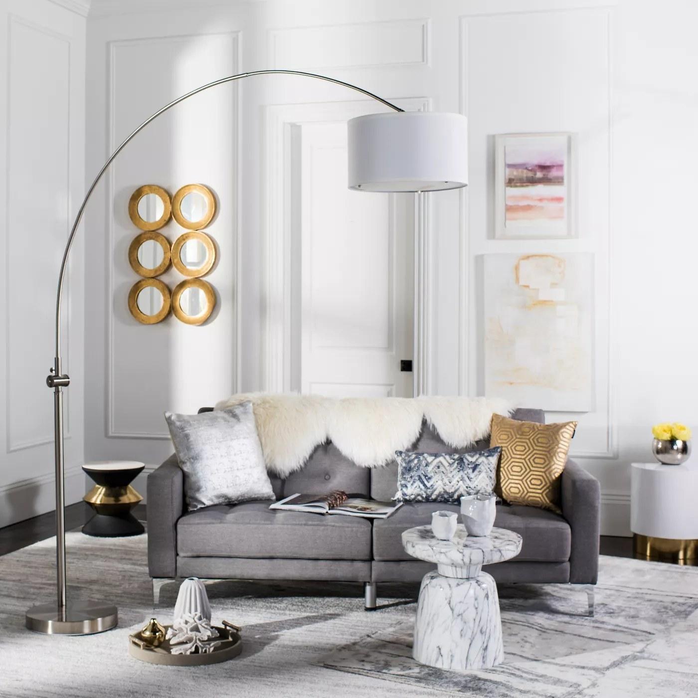 The arc floor lamp