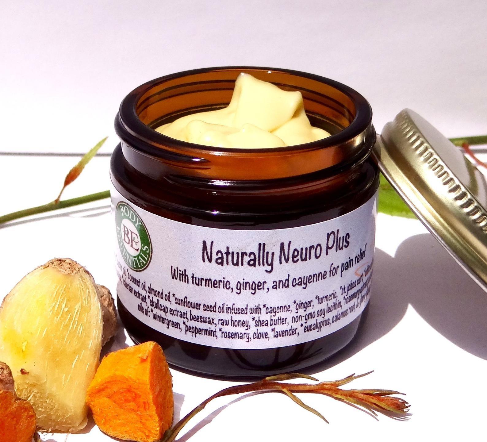 "A jar of ""naturally neuro plus"" cream"