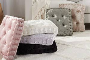 The square cushion in different colors