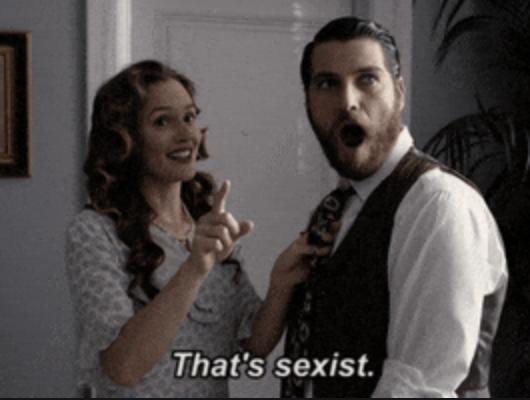 "Deborah saying ""That's sexist"" in Making History"