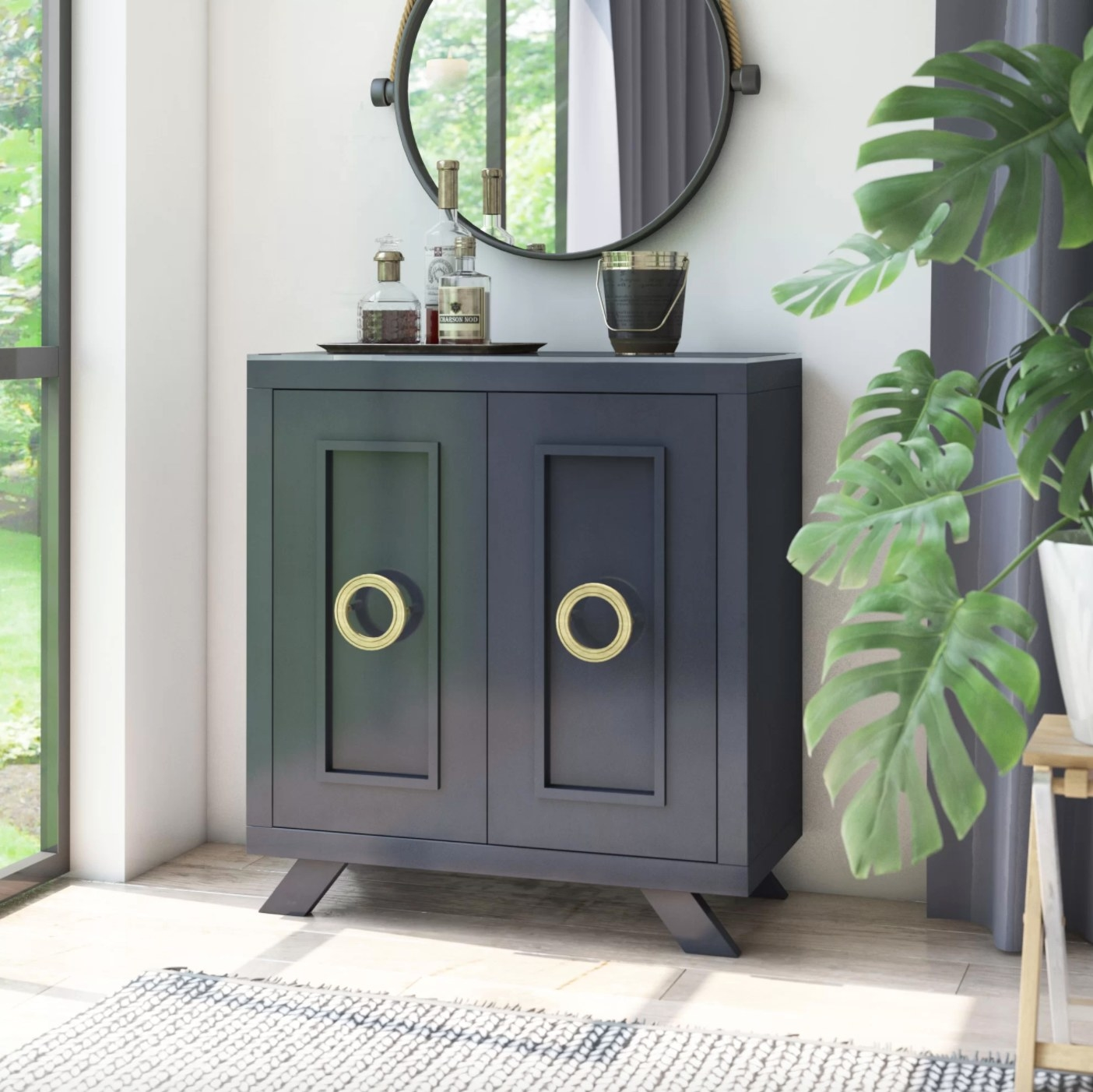 The bar cabinet in franklin blue