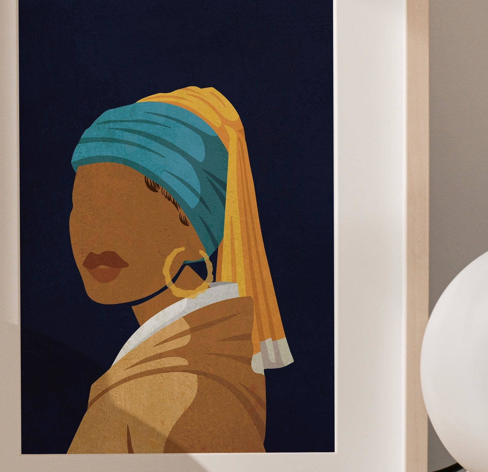 the girl with a pearl earring print
