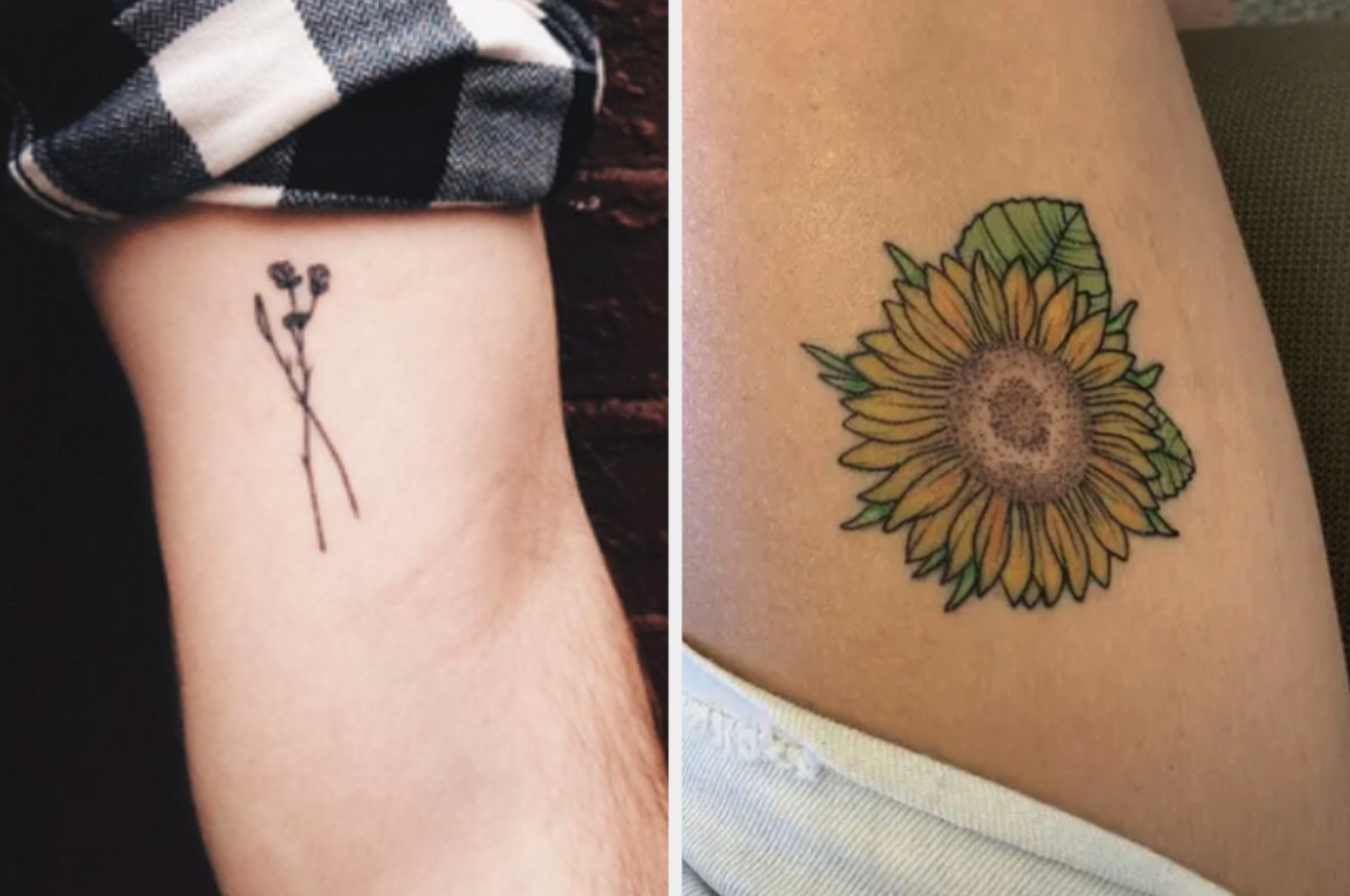 Simple flower design and sunflower colorful design