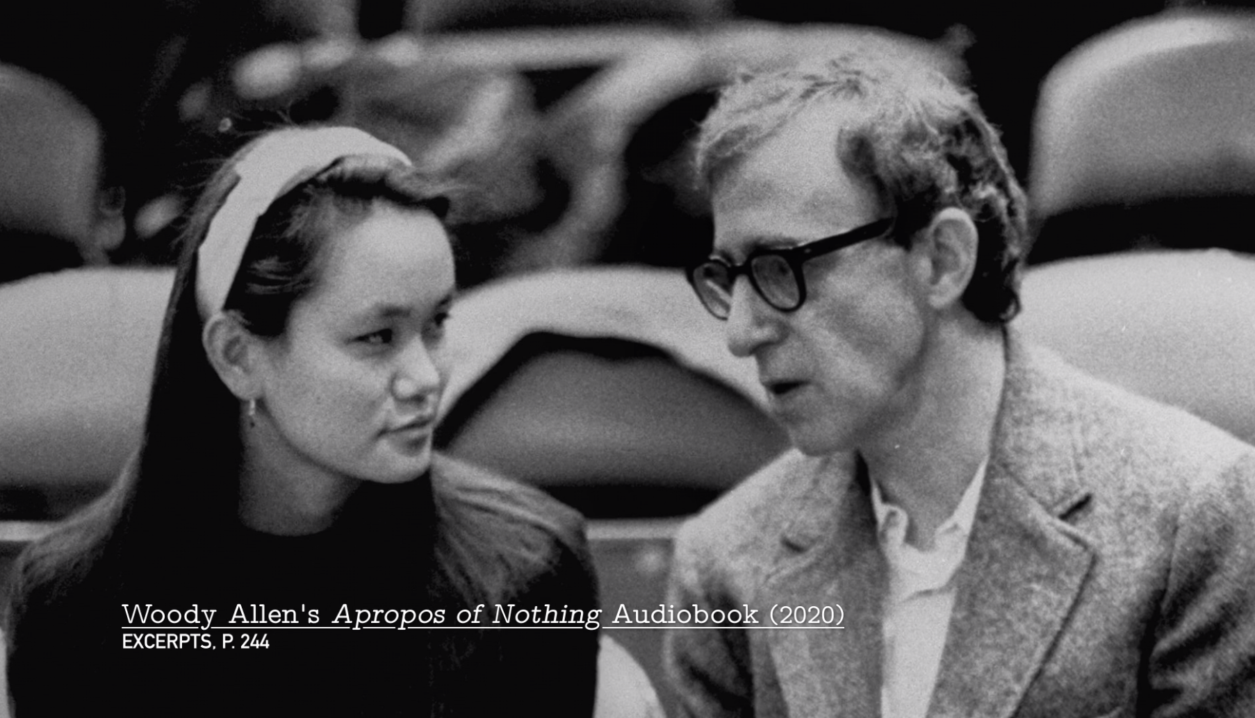 Soon-Yi and Woody Allen at a basketball game