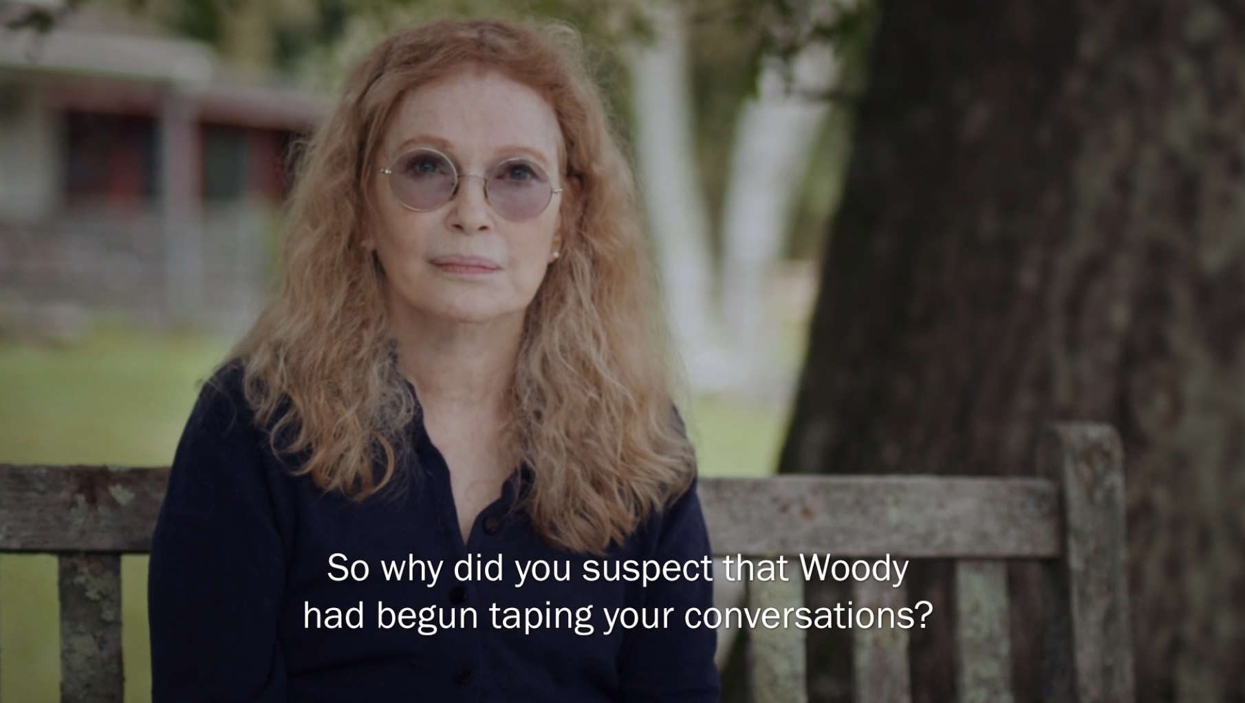 Mia Farrow talking about Woody Allen's inappropriate relationship with Soon-Yi
