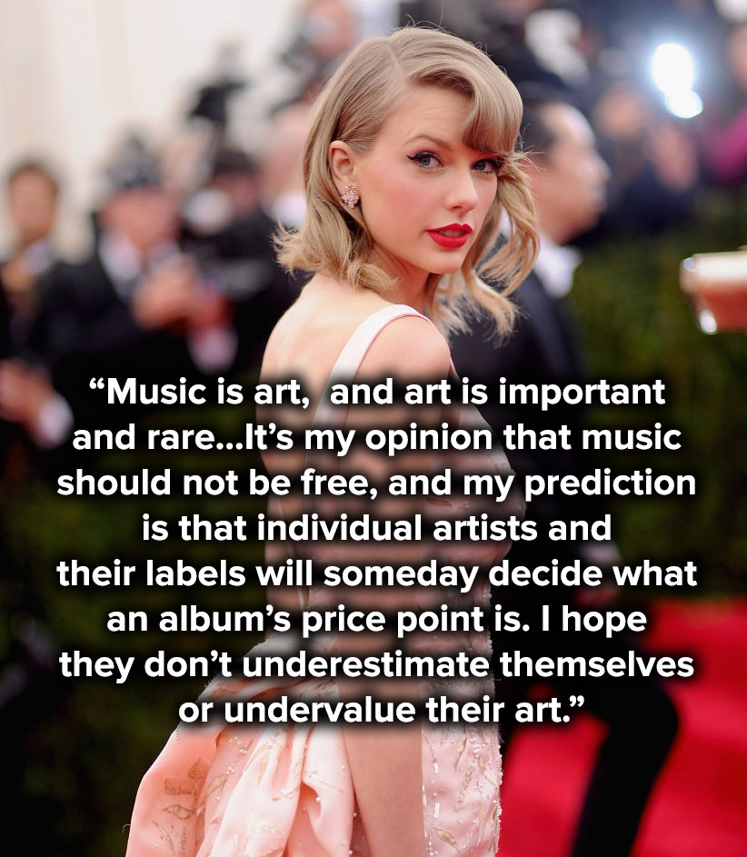 It's my opinion that music should not be free, and my prediction is that individual artists and their labels will someday decide what an album's price point is. I hope they don't underestimate themselves or undervalue their art