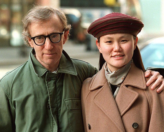 Woody Allen and Soon-Yi posing for a photo on New York