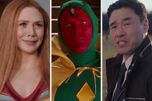 Wanda, Vision, and Jimmy Woo