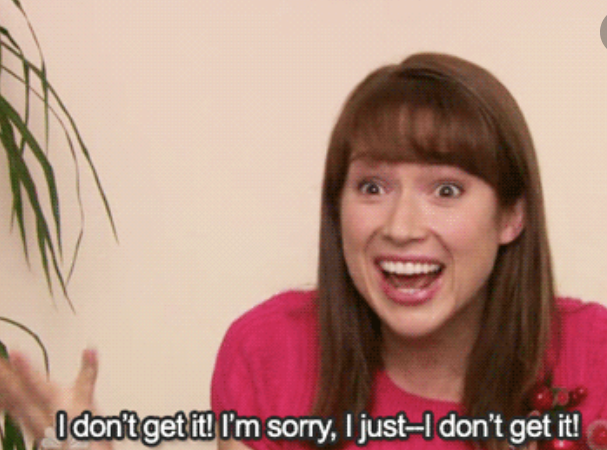 Erin saying she doesn't get it on The Office