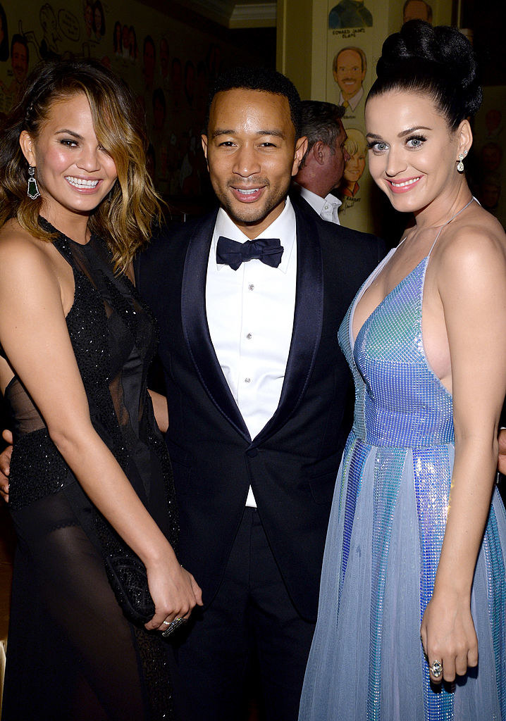 Chrissy, John, and Katy posing for a photo