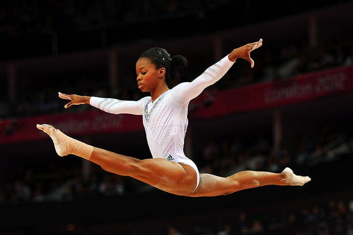 Gabrielle Douglas of the United States competes on the beam during the Artistic Gymnastics Women's Beam final during the London 2012 Olympic Games