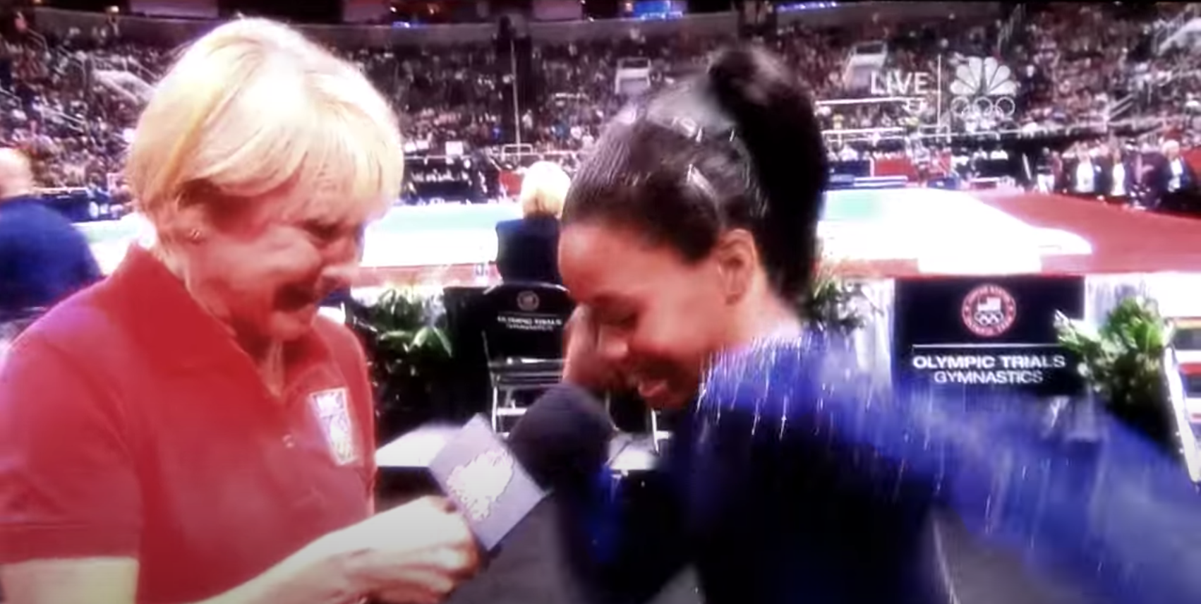 Gabby Douglas' Dougie dance during the 2012 interview