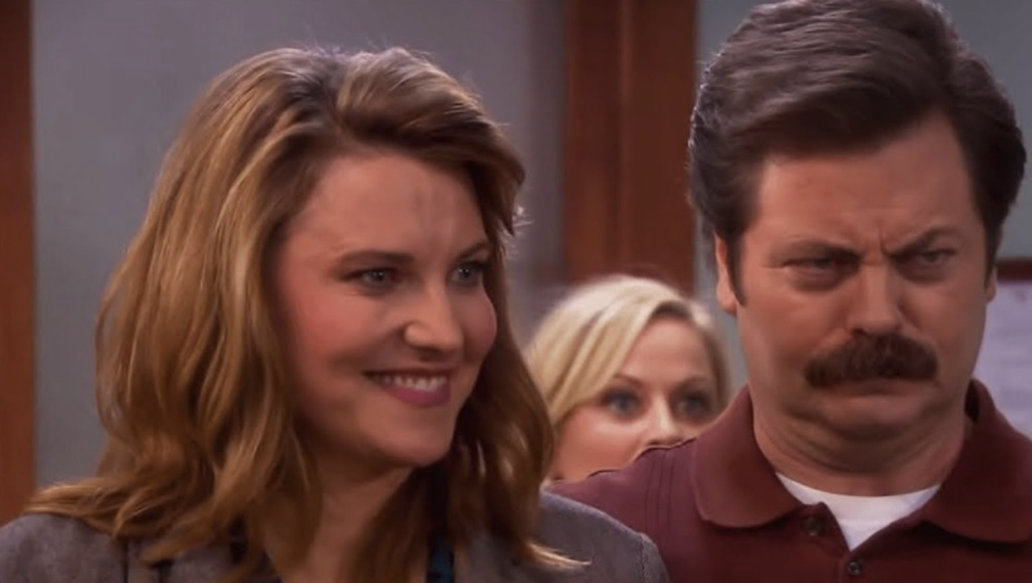 """Diane and Ron in """"Parks and Rec"""""""