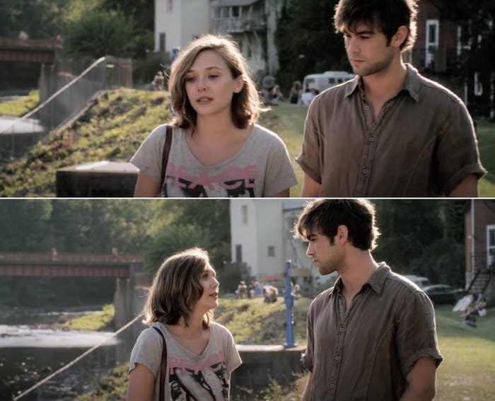 "Elizabeth Olsen and Chase Crawford in ""Peace, Love, & Misunderstanding"""