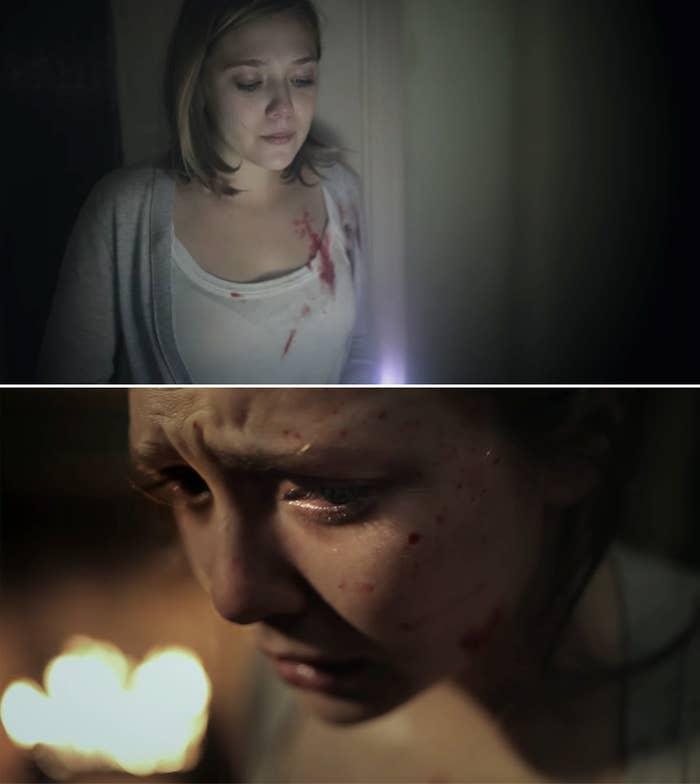Elizabeth Olsen as Sarah in Silent House