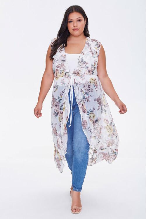 Model wearing the kimono