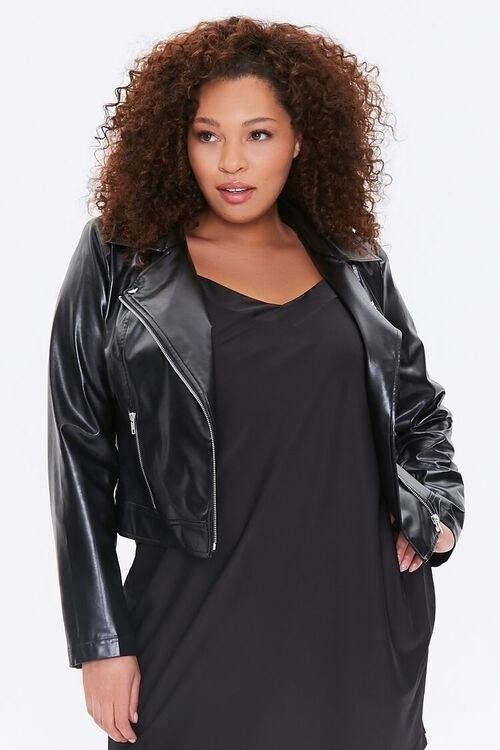 Model wearing the jacket