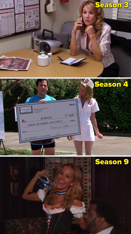 Elizabeth in Season 3, Season 4, and Season 9