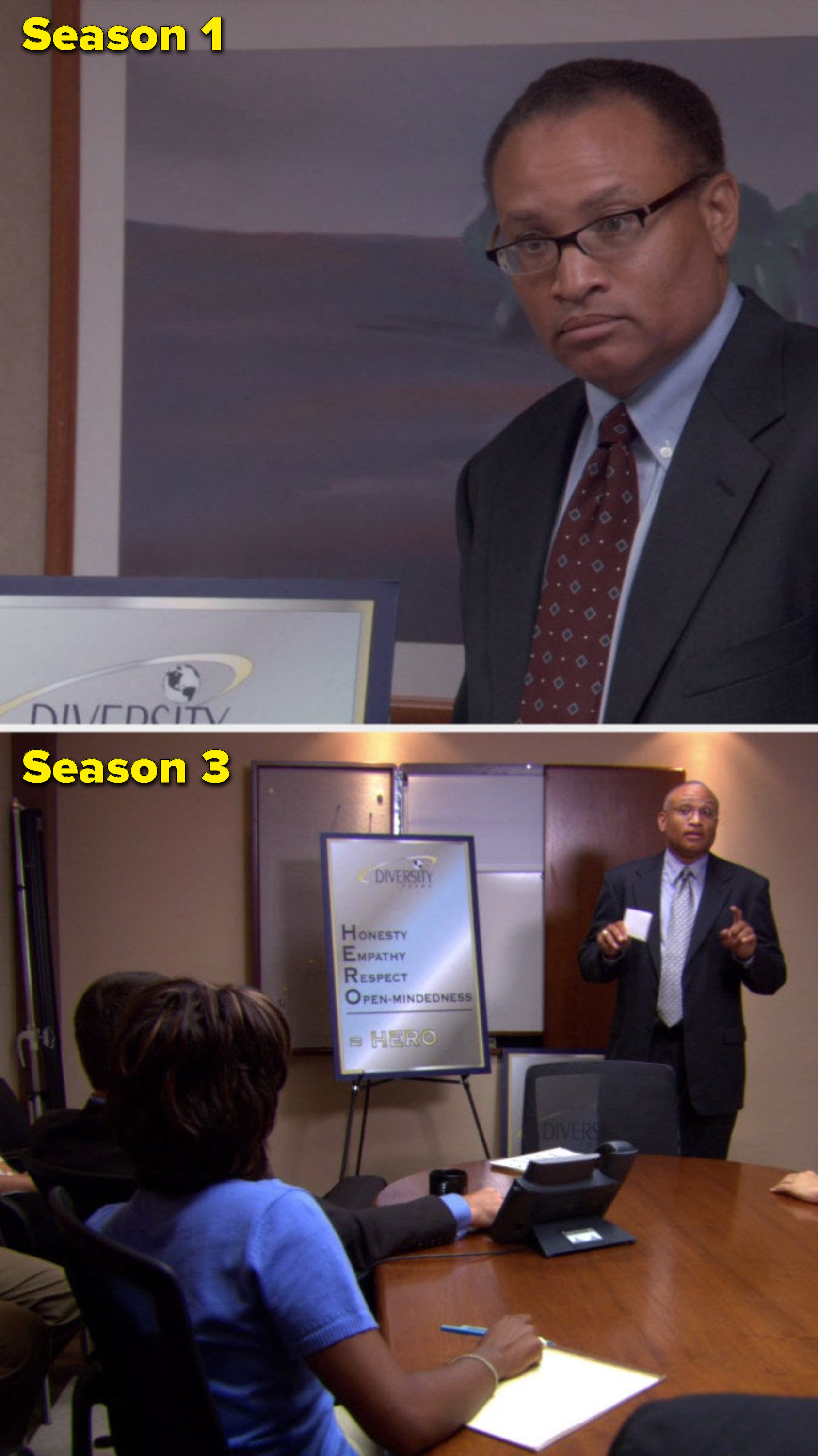 The same person is in Season 1 and Season 3