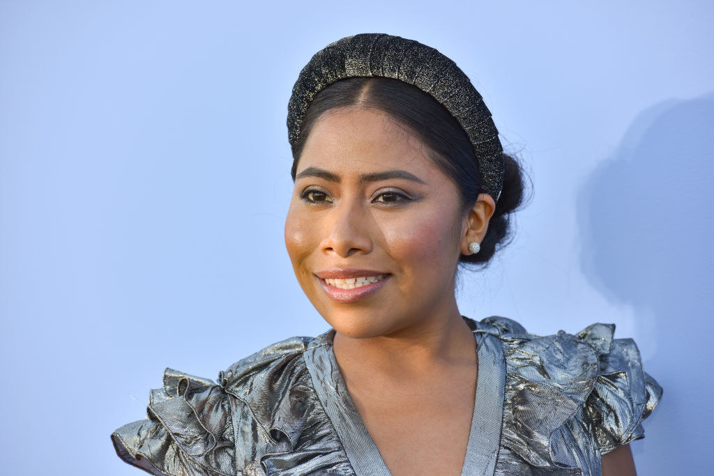 Yalitza on the red carpet at the Michael Kors 2020 Fashion Show