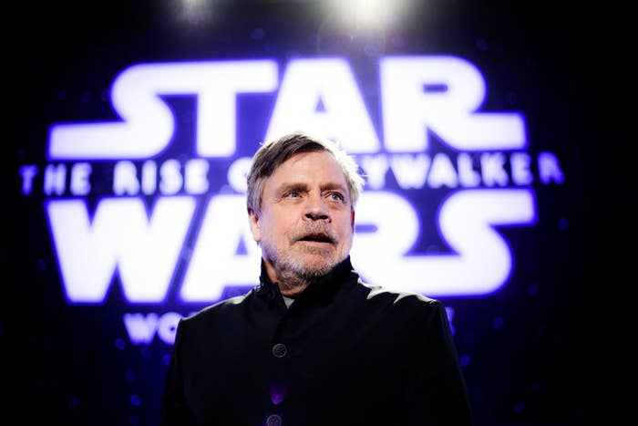 Mark at the most recent Star War premiere