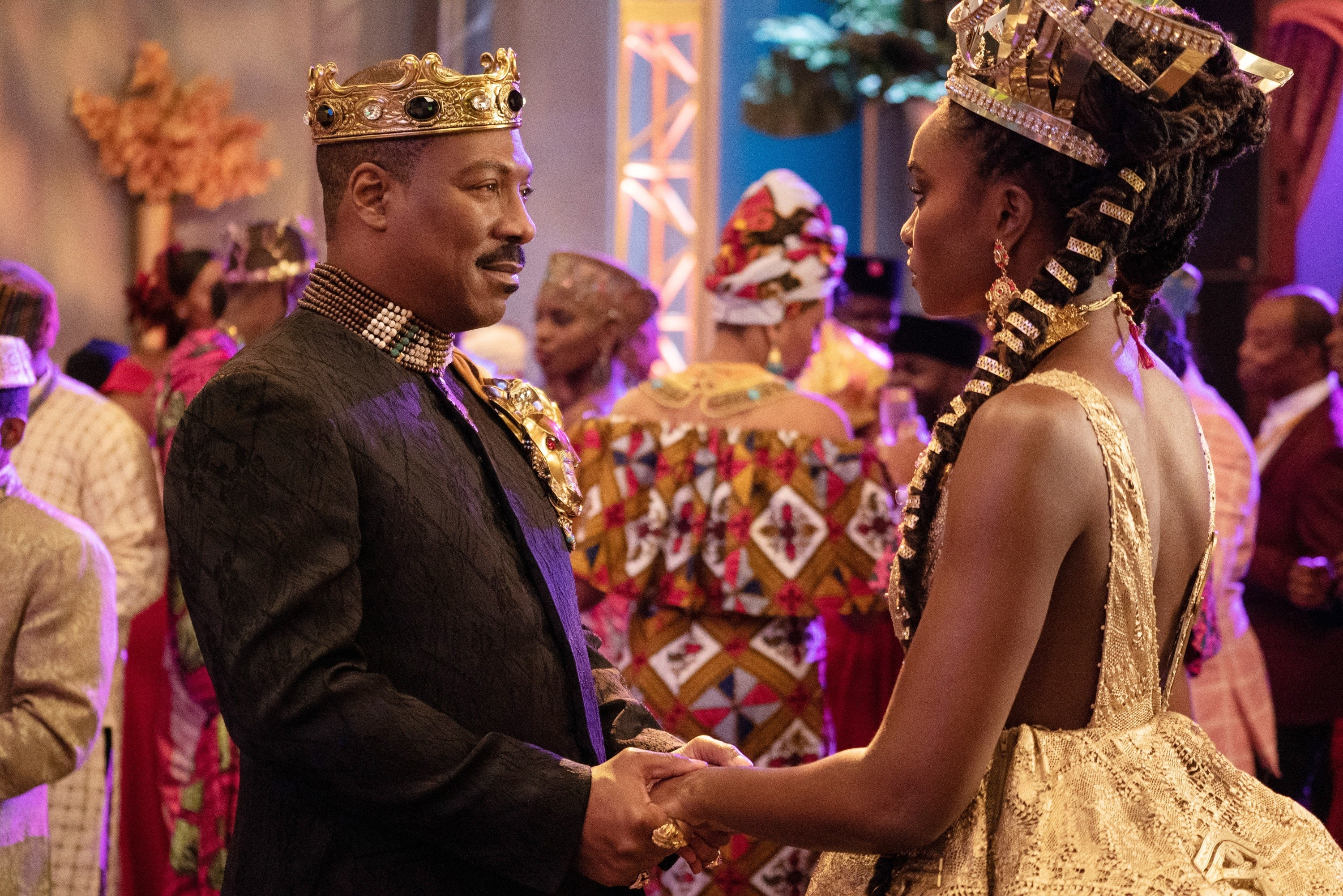 Eddie Murphy and Kiki Layne in Coming 2 America