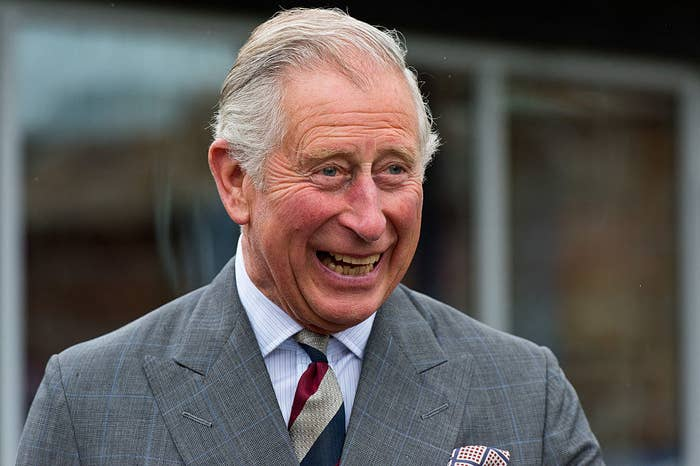 Prince Charles laughing