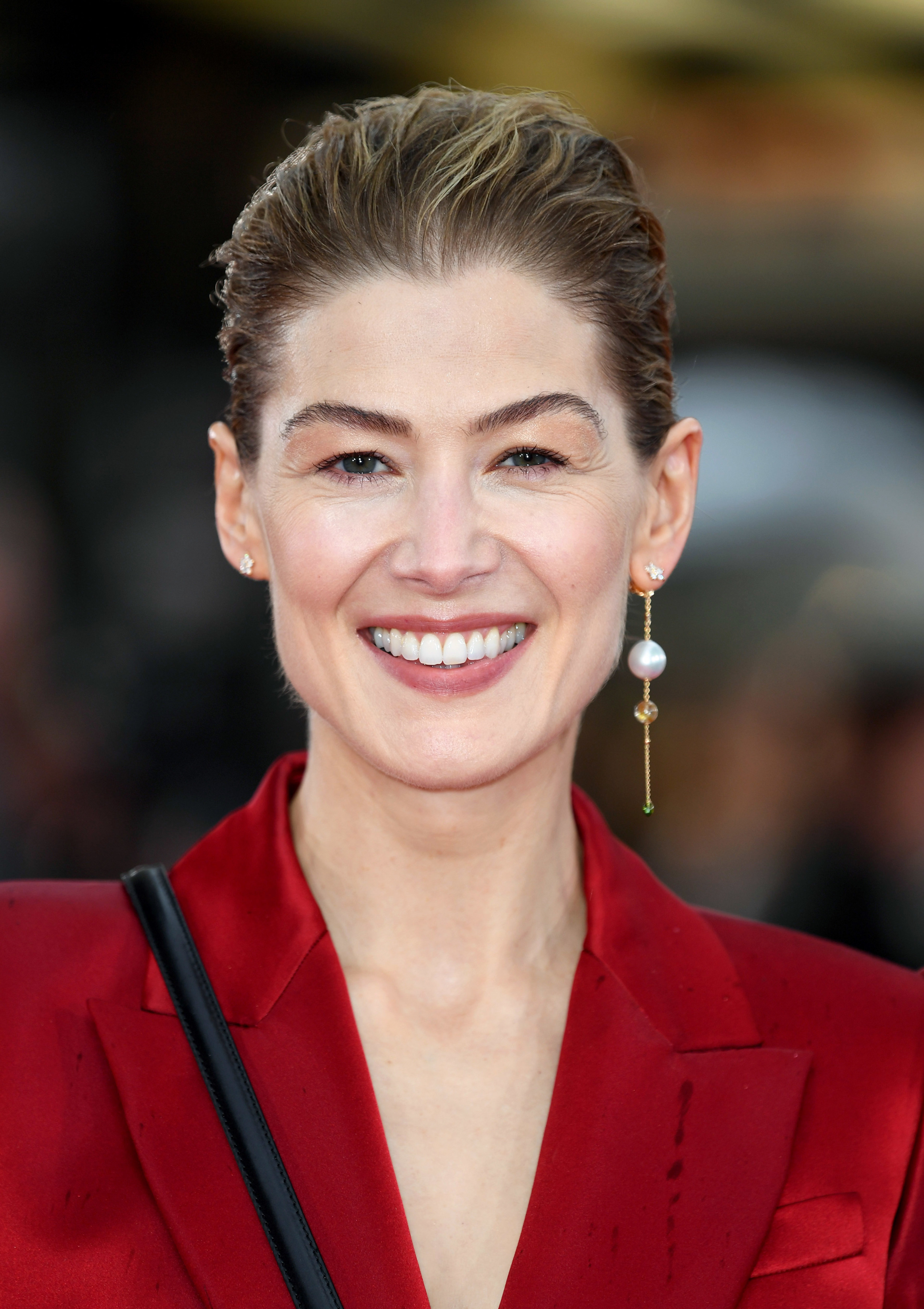 Rosamund pike at the premiere of Radioactive in London in March 2020