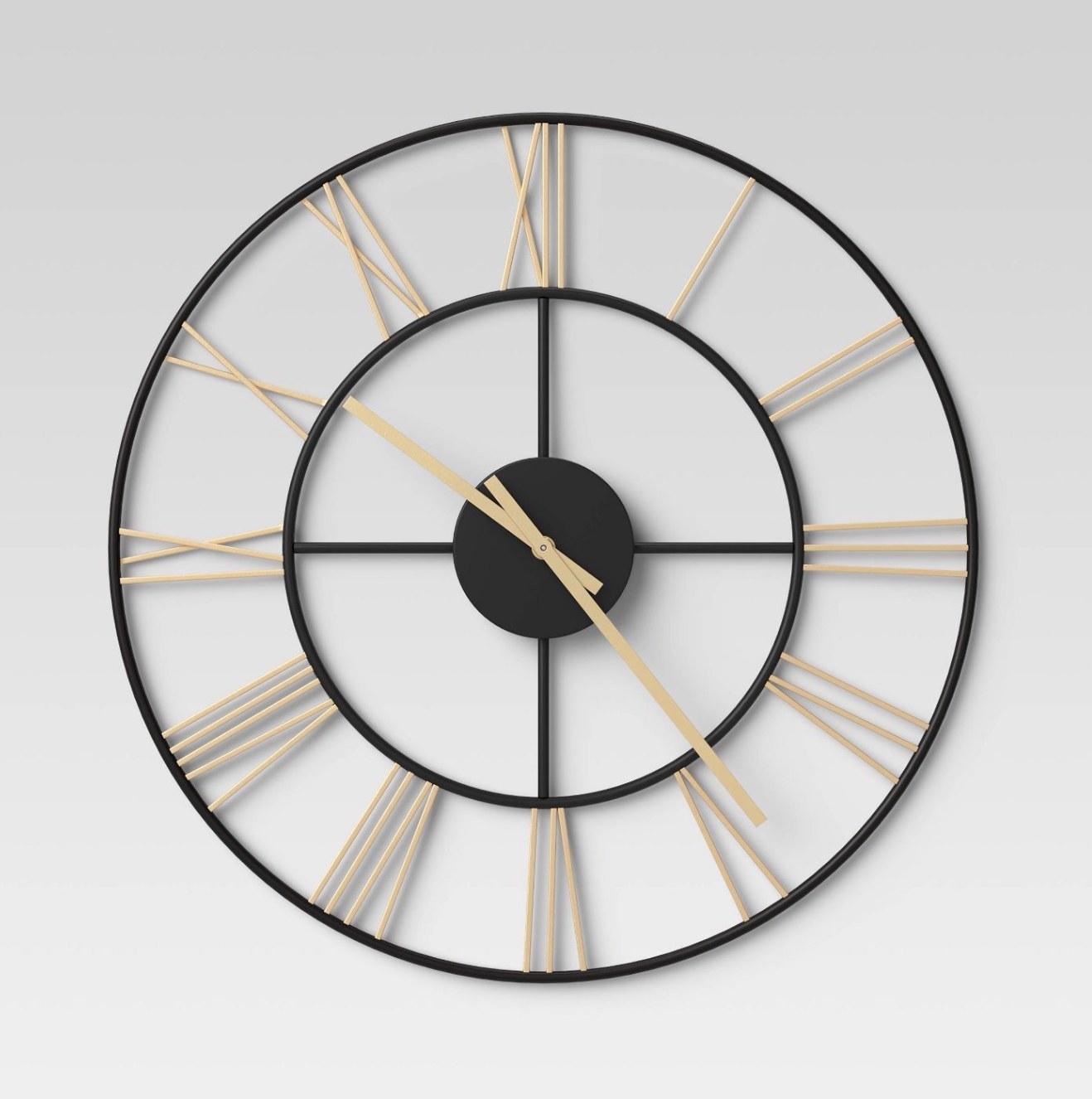 Wall clock mounted on wall.