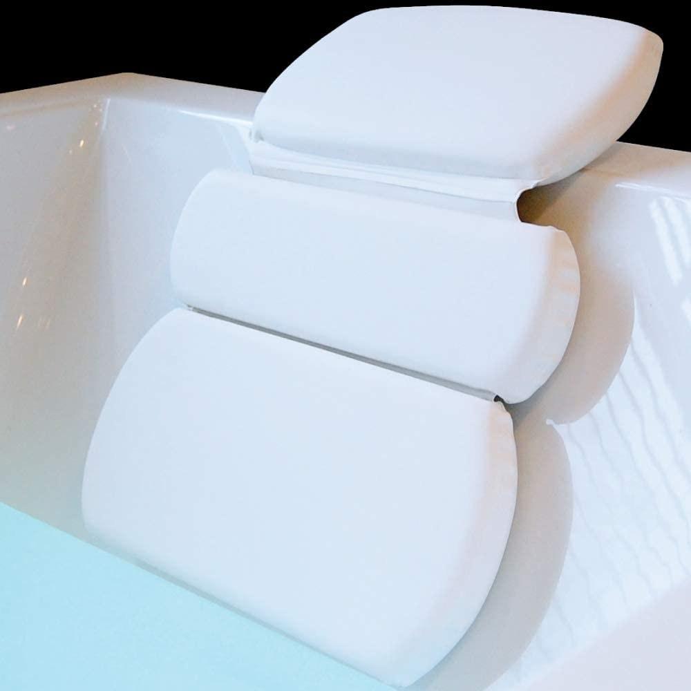 The spa pillow in a bathtub
