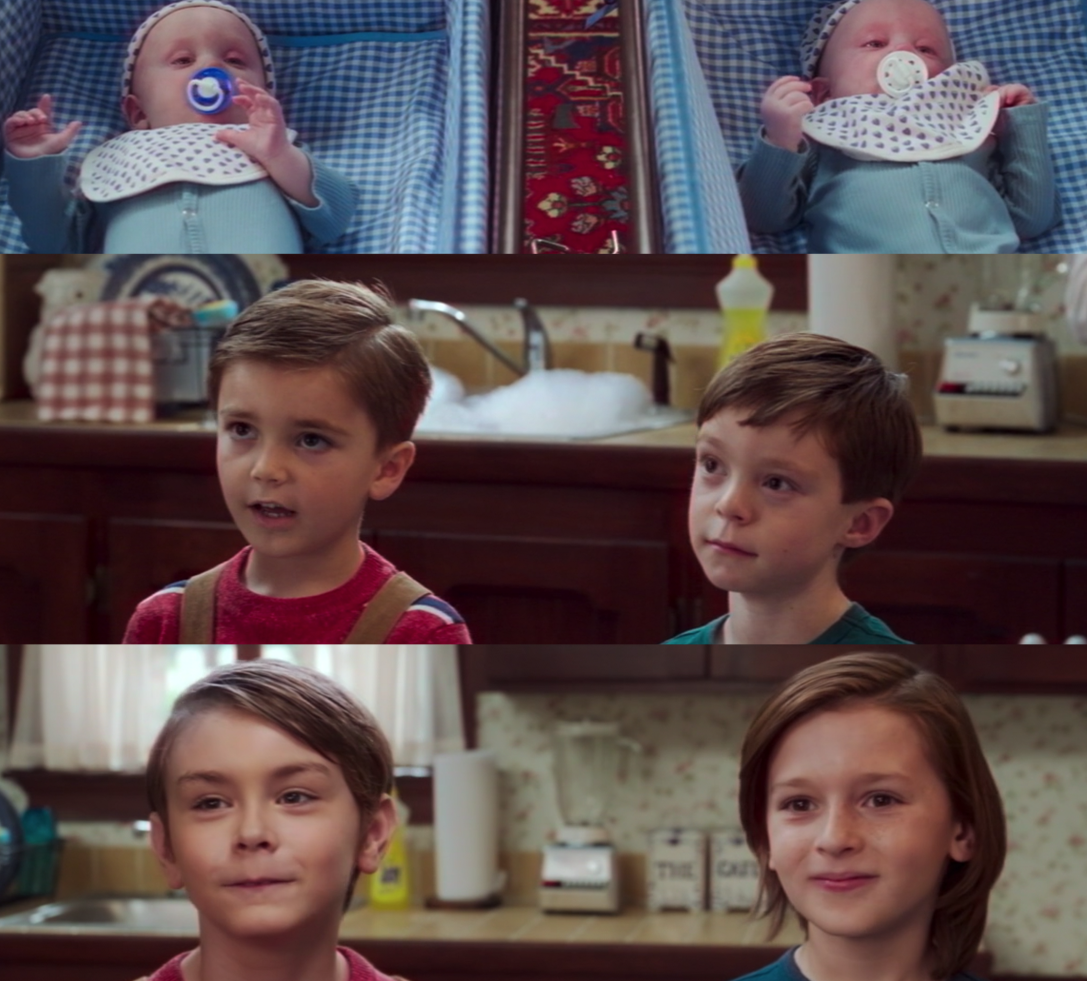 Julian Hilliard and Jett Klyne as Wanda and Vision's sons Billy and Tommy