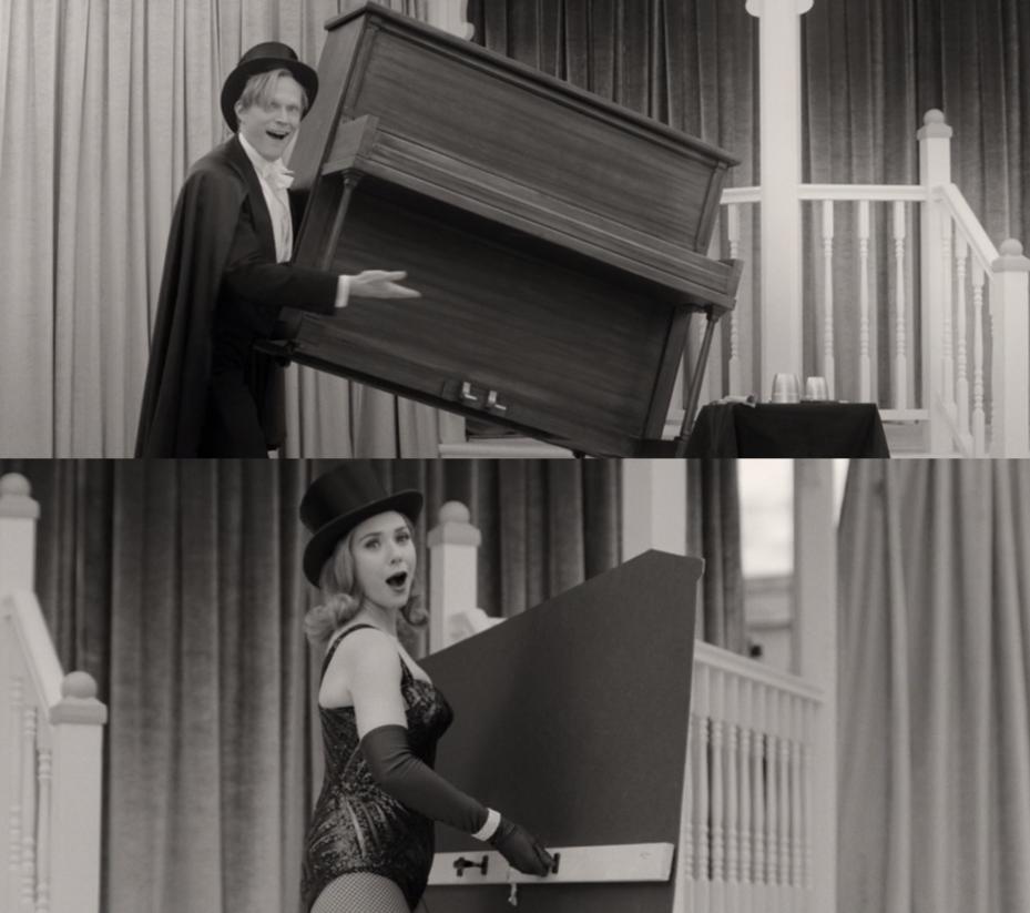 Vision lifting up a piano