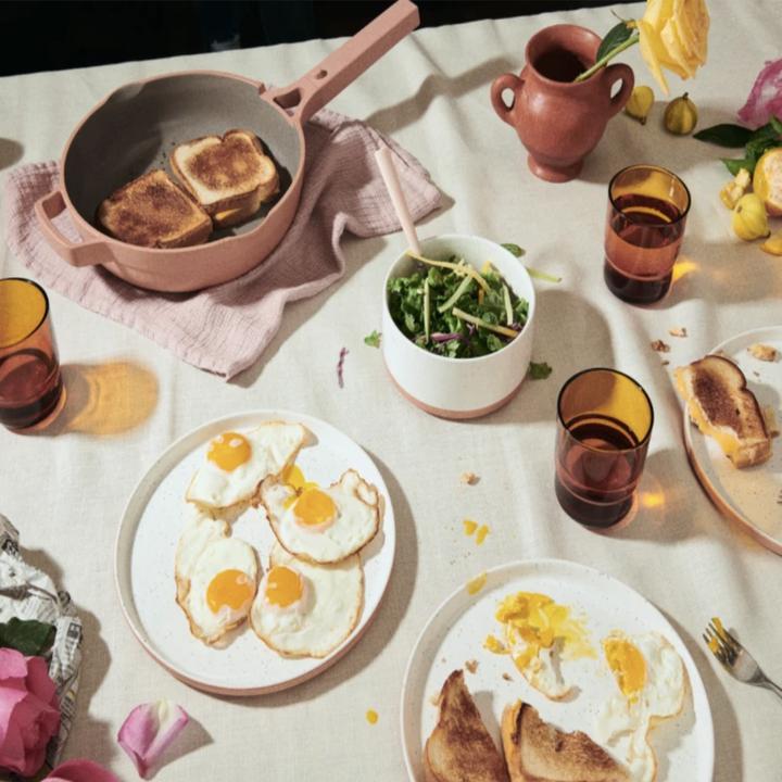 always pan in pink used to serve breakfast
