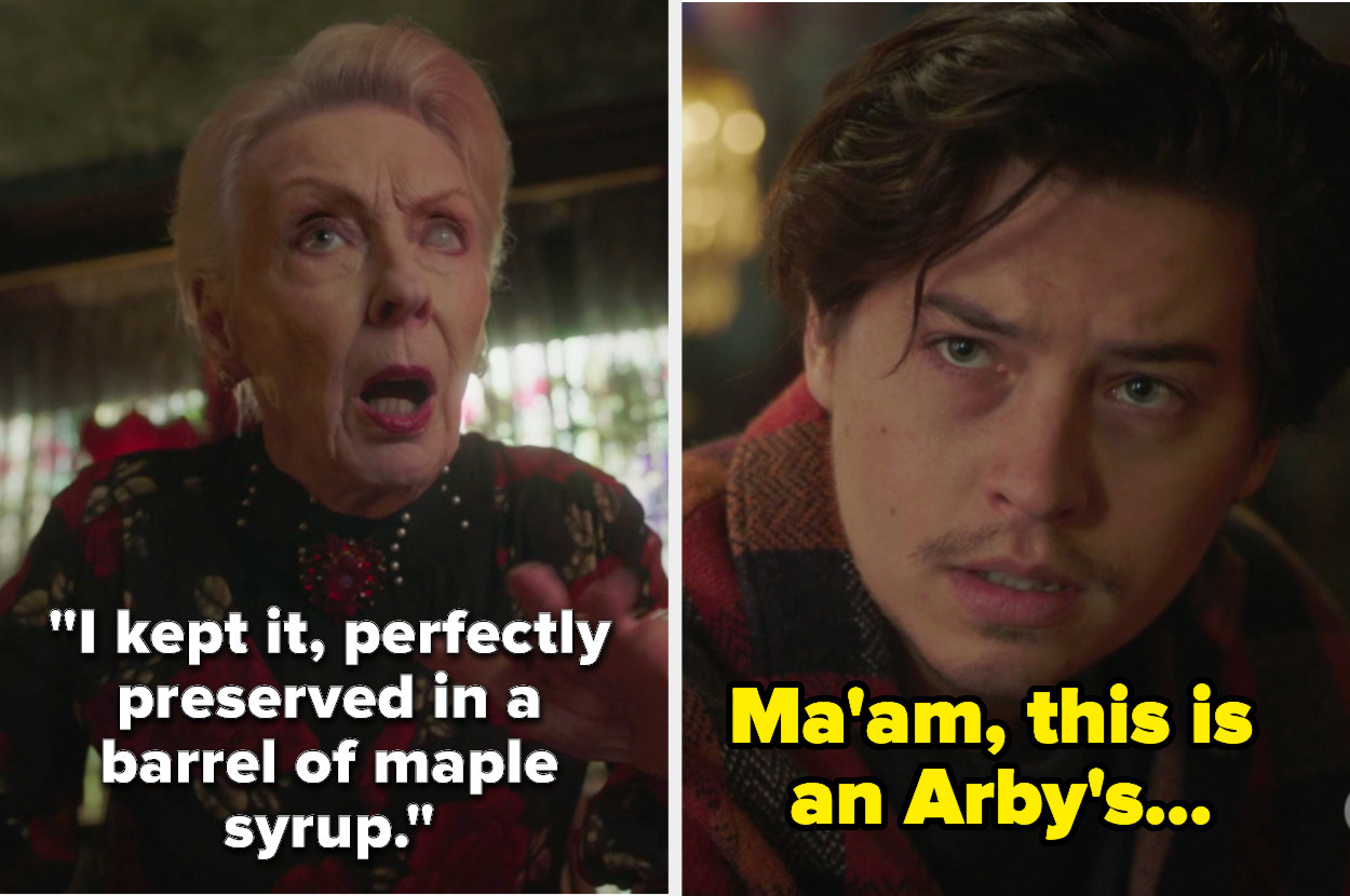 """Jughead looking incredulous with the caption, """"Ma'am, this is an Arby's..."""""""