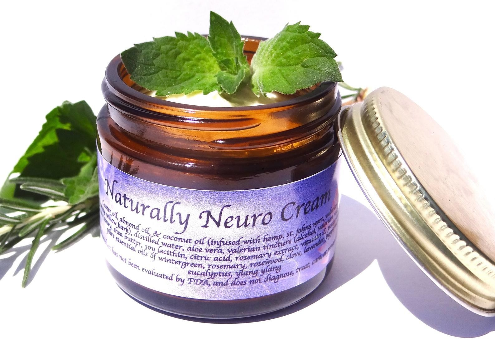 "A jar of ""naturally neuro cream"""